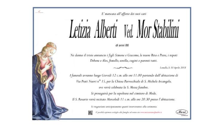 Letizia Maria Alberti Ved. Mor Stabilini