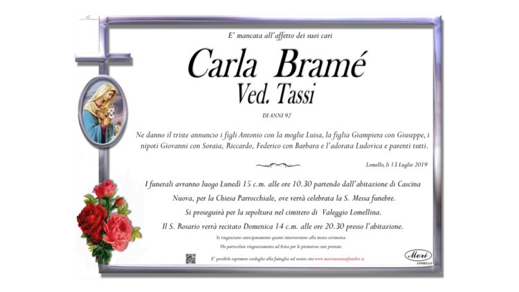 Carla Bramé Vedova Tassi