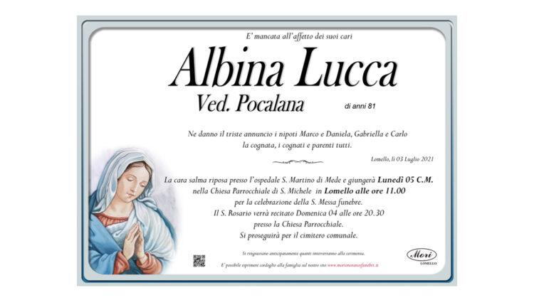 Albina Lucca Ved. Pocalana